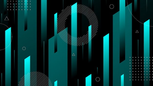 Abstracte achtergrond met modern isometrisch lijn en element van memphis.