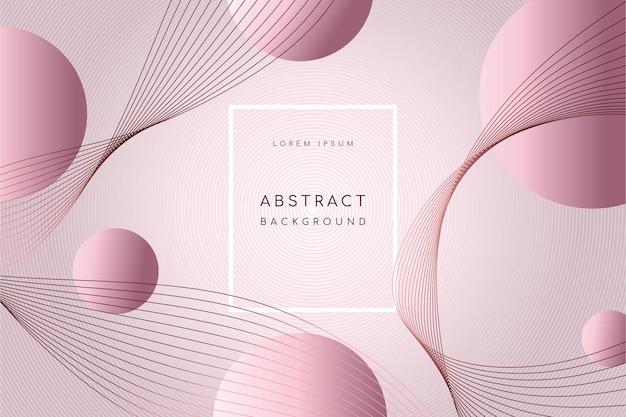 Abstracte achtergrond met moderne geometrische golvende lijnen en cirkels