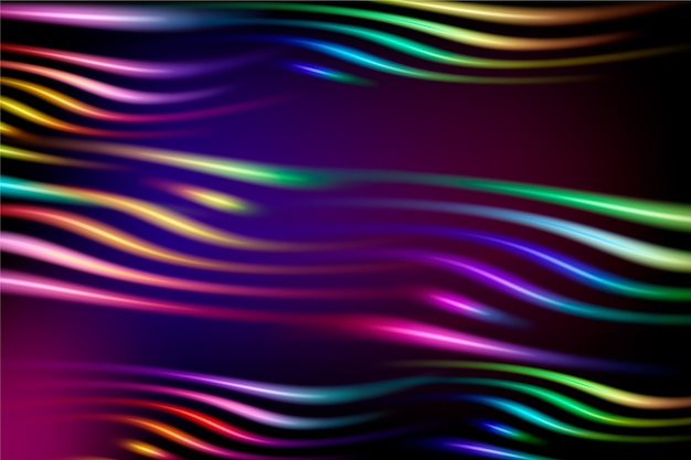 Abstracte achtergrond met neonlichten