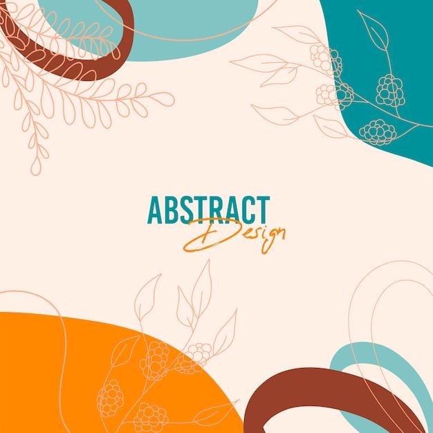 Abstracte achtergrond met organische plons in pastel naakt kleuren.
