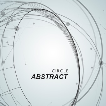 Abstracte achtergrond met overlappende cirkels en punten