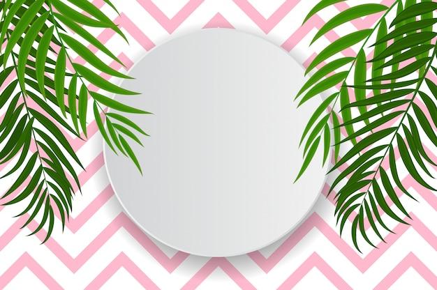 Abstracte achtergrond met palmbladeren.