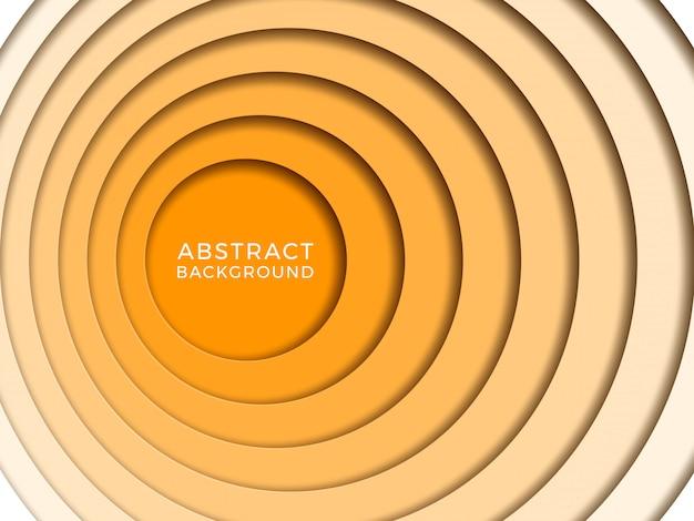 Abstracte achtergrond met papercutcirkels