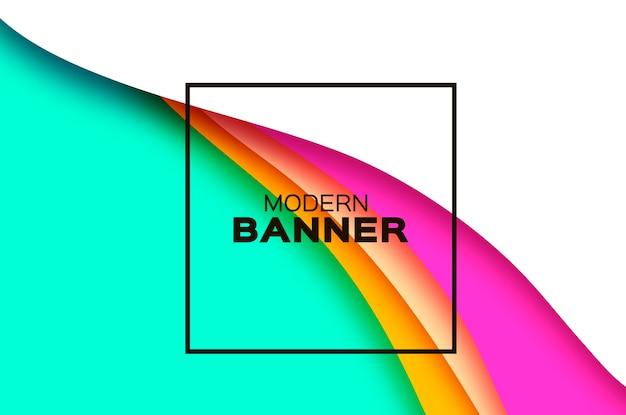 Abstracte achtergrond met papier gesneden vormen golf achtergrond
