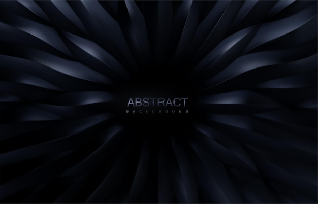 Abstracte achtergrond met radiaal zwart schaal 3d patroon