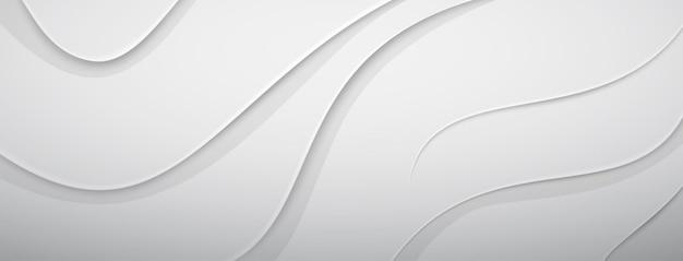 Abstracte achtergrond met reliëf golvend oppervlak in witte en grijze kleuren