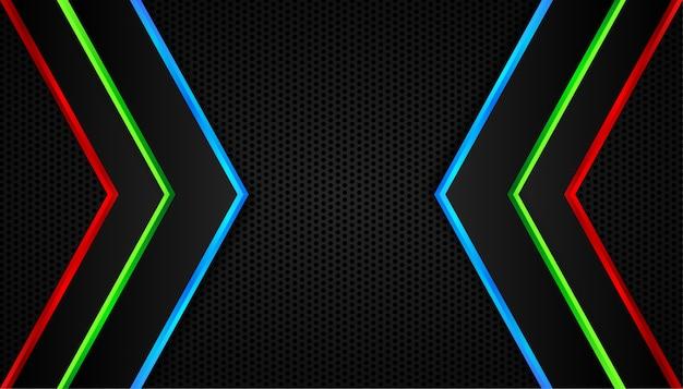 Abstracte achtergrond met rgb pijllijnen