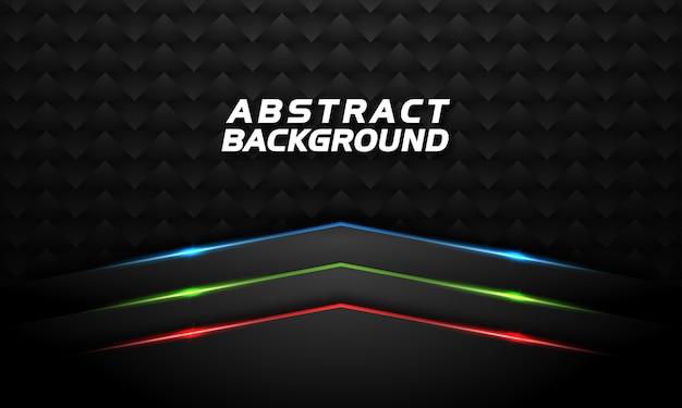 Abstracte achtergrond met rode groene en blauwe gloeiende lijn