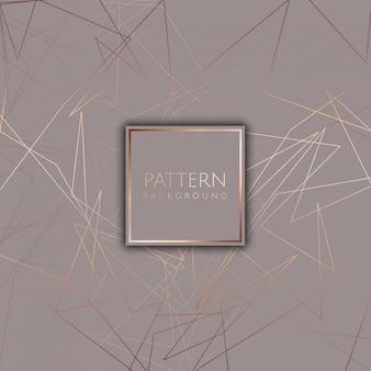 Abstracte achtergrond met roze gouden ontwerp
