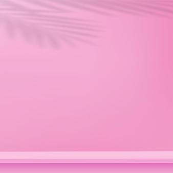 Abstracte achtergrond met roze kleur geometrische 3d podia. vector illustratie