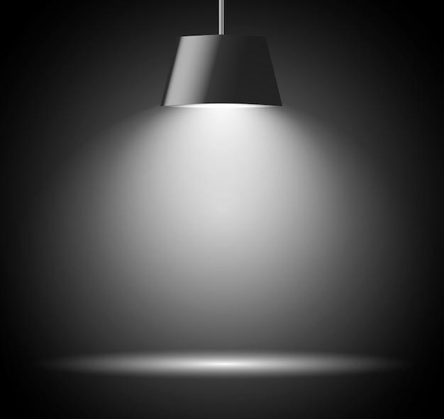 Abstracte achtergrond met spotlicht in grijze kleur