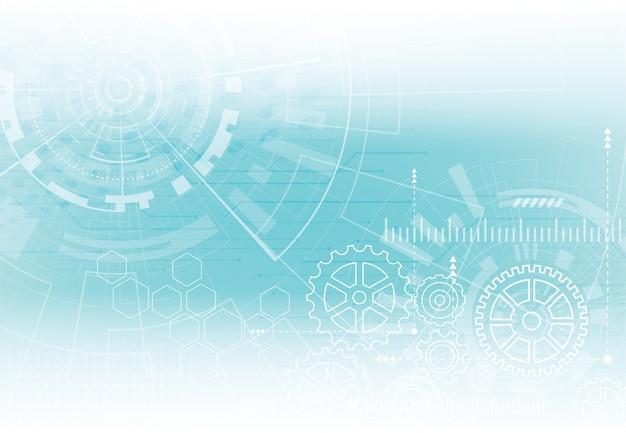Abstracte achtergrond met technologie printplaat textuur