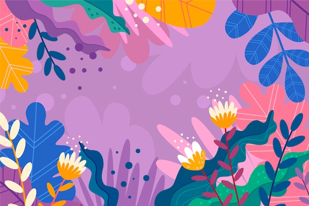 Abstracte achtergrond met tropische kopie ruimte bloemen