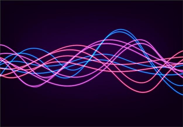 Abstracte achtergrond met vage magische neonlicht gebogen lijnen. vector illustratie