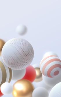 Abstracte achtergrond met veelkleurige 3d bollen