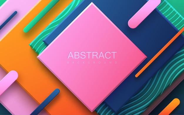 Abstracte achtergrond met veelkleurige geometrische vormen