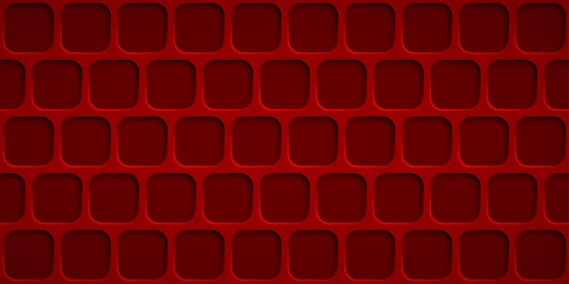 Abstracte achtergrond met vierkanten gaten in rode kleuren