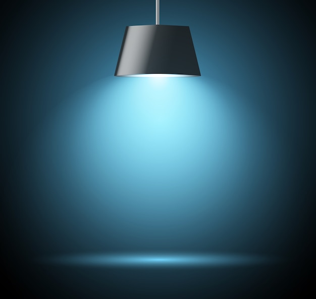 Abstracte achtergrond met vleklicht in blauwe kleur