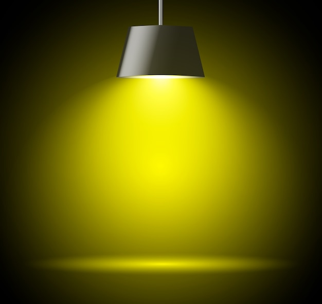 Abstracte achtergrond met vleklicht in gele kleur