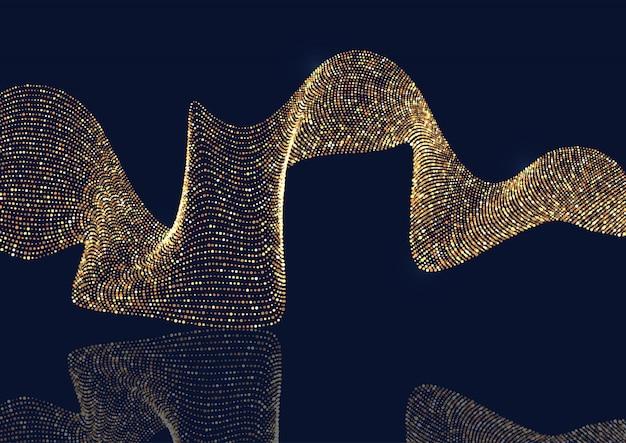 Abstracte achtergrond met vloeiende glitter stippen