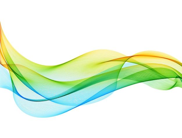 Abstracte achtergrond met vlotte kleurengolf. rook golvende lijnen