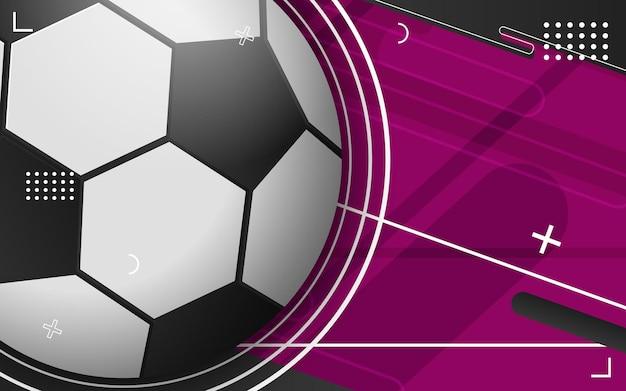Abstracte achtergrond met voetbal
