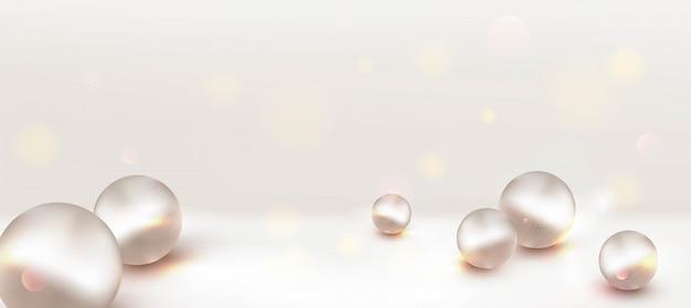 Abstracte achtergrond met witte 3d bol.