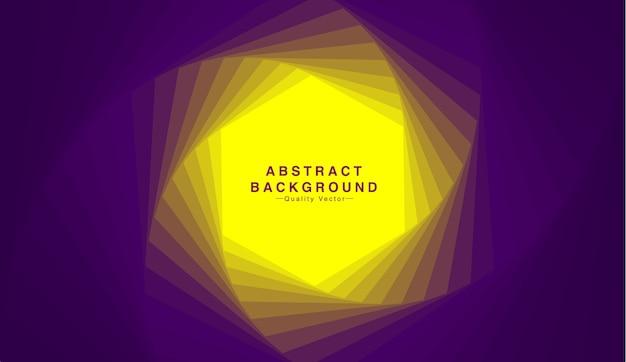 Abstracte achtergrond met zeshoekige vorm in gele en paarse toon.