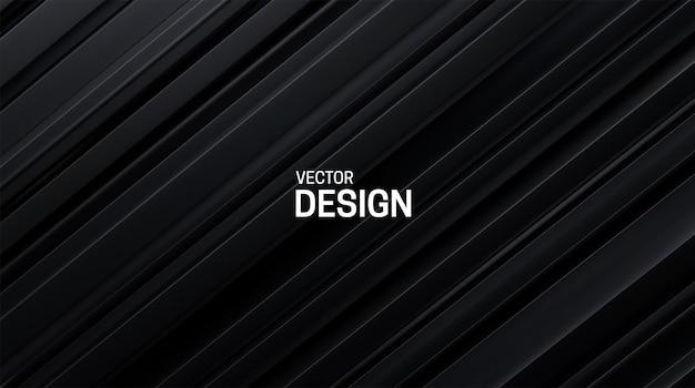 Abstracte achtergrond met zwart gelaagd oppervlak