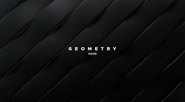 Abstracte achtergrond met zwart gesneden oppervlak