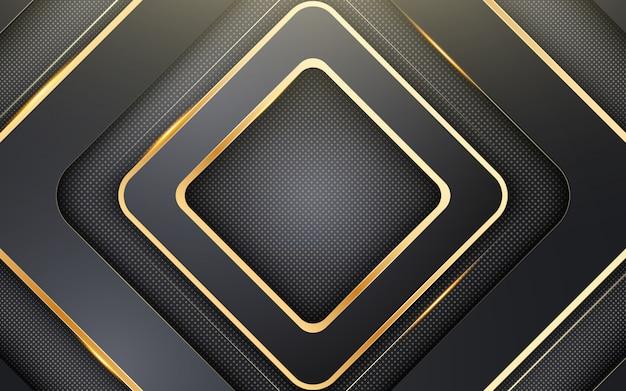Abstracte achtergrond met zwart vierkant. compositie met vierkante vormen