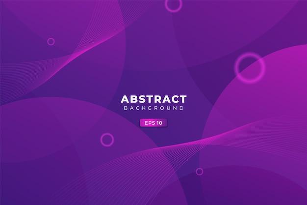 Abstracte achtergrond modern dynamisch zacht verloop kleurrijk paars blauw met cirkelcombinatie