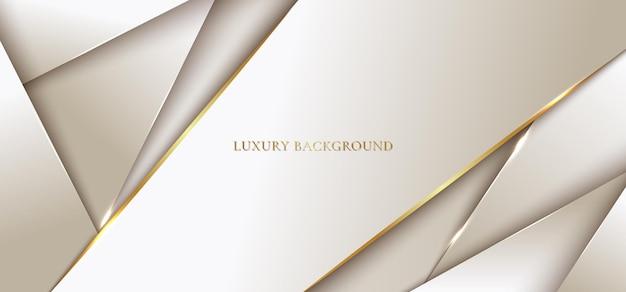 Abstracte achtergrond moderne luxe sjabloon gouden geometrisch met lijn.