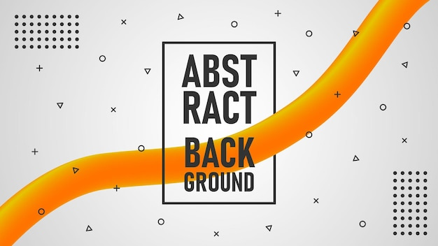 Abstracte achtergrond oranje werveling gradiënteffect volledig bewerkbaar