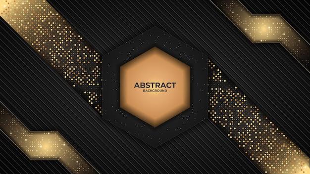 Abstracte achtergrond overlappende lagen met gouden en donkere kleur