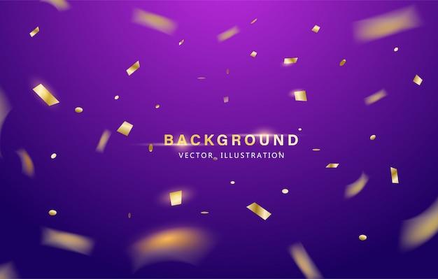 Abstracte achtergrond. partij, feest of speciale verjaardag achtergrond met gouden glanzende glitters of lint
