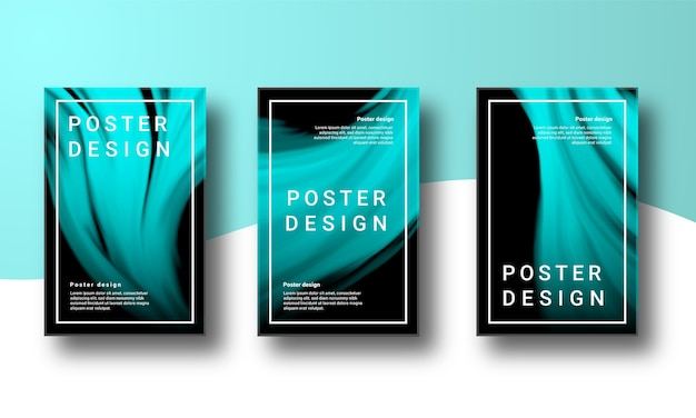 Abstracte achtergrond poster set