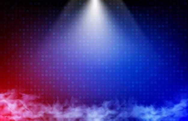 Abstracte achtergrond van blauwe en rode technologie en lichte straal