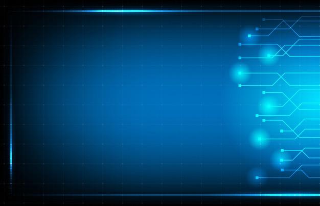 Abstracte achtergrond van blauwe hud ui-interfacetechnologie