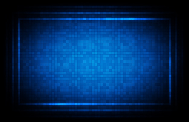 Abstracte achtergrond van blauwe hud ui-interfacetechnologieachtergrond