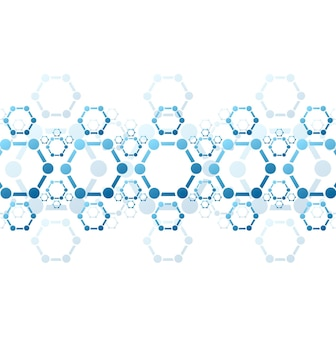 Abstracte achtergrond van blauwe molecuulstructuur. medisch vector wetenschappelijk ontwerp