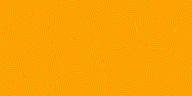 Abstracte achtergrond van concentrische cirkels in oranje kleuren