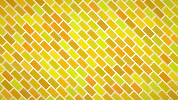 Abstracte achtergrond van diagonaal gerangschikte rechthoeken in gele kleuren