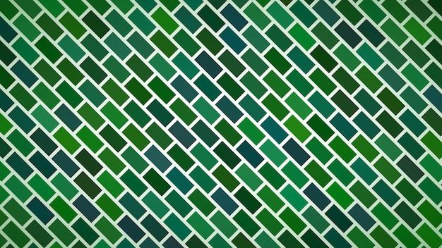 Abstracte achtergrond van diagonaal gerangschikte rechthoeken in groene kleuren