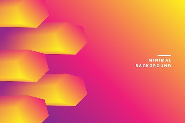 Abstracte achtergrond van dynamische kleurrijke zeshoekgolf