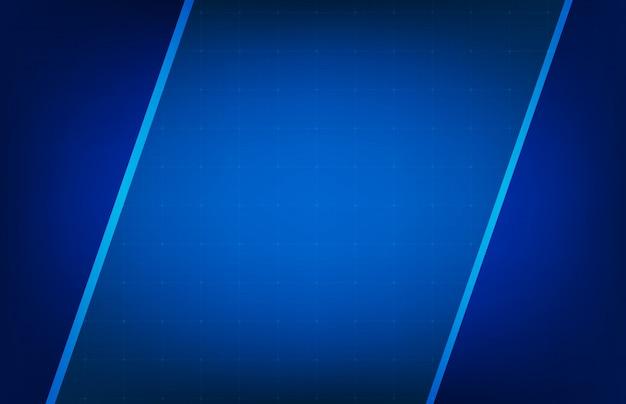 Abstracte achtergrond van gloeiende blauwe kader ui hud vertoning