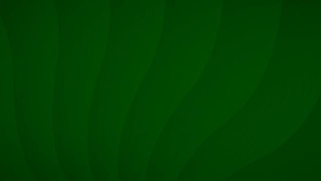 Abstracte achtergrond van golvende gebogen strepen met schaduwen in groene kleuren