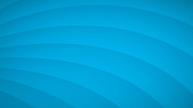 Abstracte achtergrond van golvende gebogen strepen met schaduwen in lichtblauwe kleuren