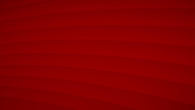 Abstracte achtergrond van golvende gebogen strepen met schaduwen in rode kleuren