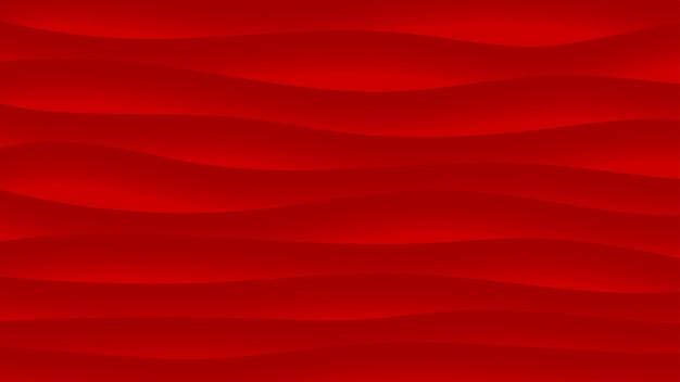 Abstracte achtergrond van golvende lijnen met schaduwen in rode kleuren